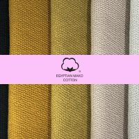 100% egiptian cotton scarf yellow and black.