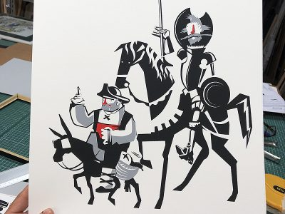 Silkscreen Quijote / Diego Etcheverry.