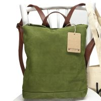 Basic green backpack / 8987.