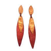 Earrings-E275-orange-red.