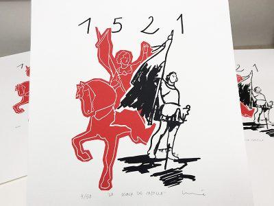 """Serigrafía """"La Leona de Castilla""""."""