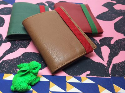 Card holder with coin pocket.