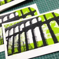 Serigrafía Acueducto Verde, Segovia.