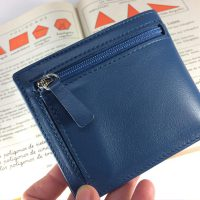 Blue american leather wallet.