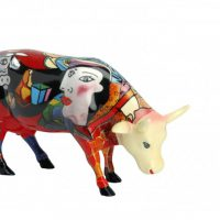 Vaca Hommage to Picowso`s African Period Mediana.
