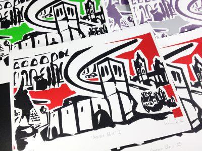 Segovia colores III. Serigrafía.