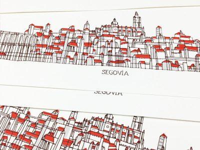 Serigrafía Segovia sombra gris.
