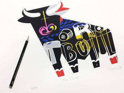 Serigrafía Toro - Bull.