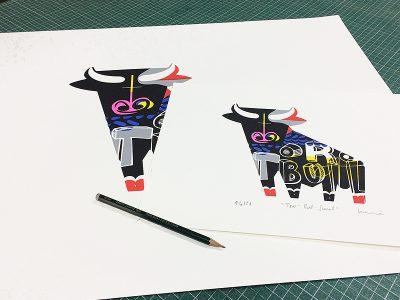 Serigrafía Toro - Bull - Small.