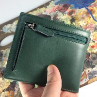 Green american leather wallet.